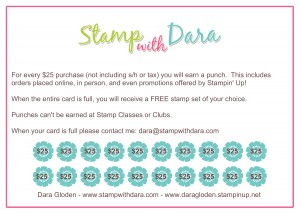 Stamping Rewards Card