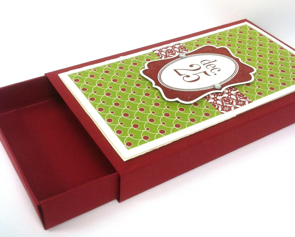 12 Days of Christmas in August: Day 7 Christmas Gift Card Box