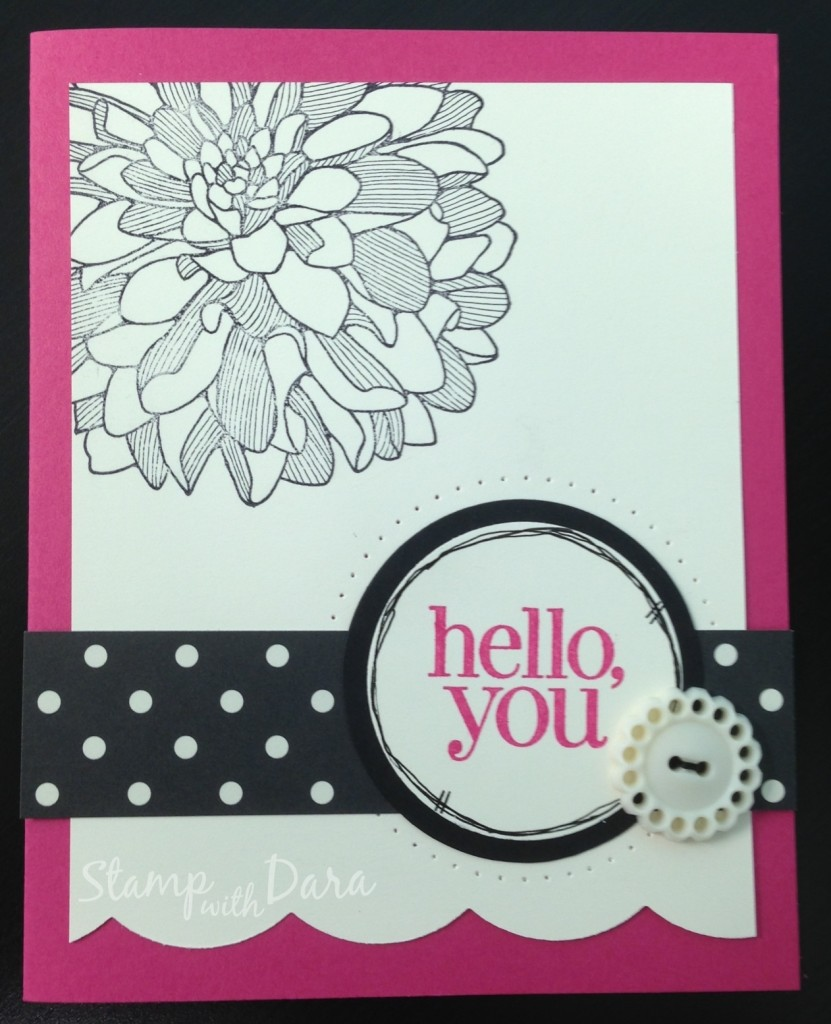 Stepped Up Hello Dahlia Card