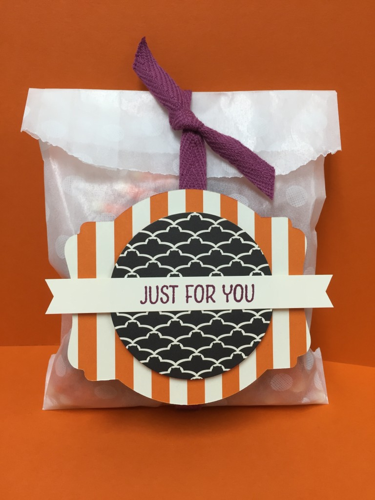 Stamp with Dara: Sketched Dots Tag a Bag