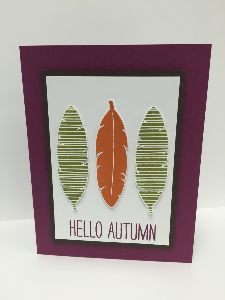 Stamp with Dara: Hello Autumn Card featuring Cheer All Year stamp set