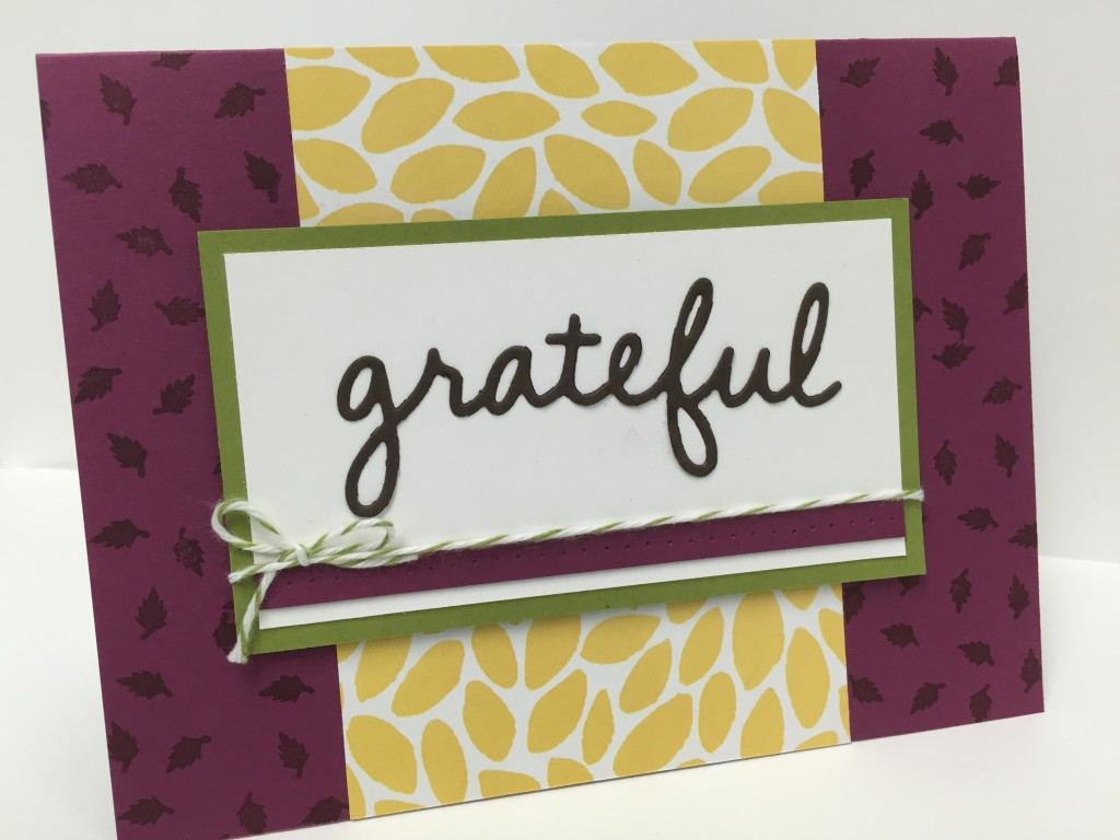 Stamp with Dara: Grateful Card